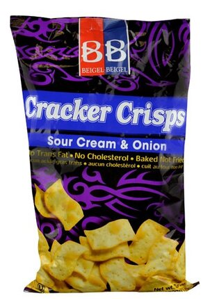 Sour Cream and Onion Crackers - Beigel Beigel