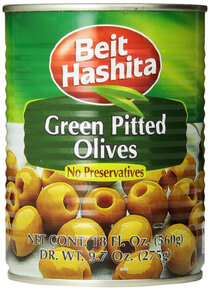 Pitted Green Olives - Beit Hashita 19.7oz