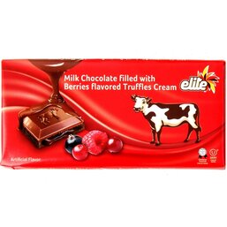 Milk Chocolate Bar with Berry Flavored Truffle Cream Filling - Elite