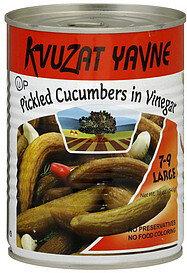 Large Cucumbers in Vinegar - Kvuzat Yavne 7-9
