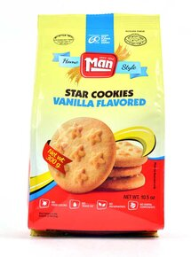 Man- Star Cookies Vanilla Flavored