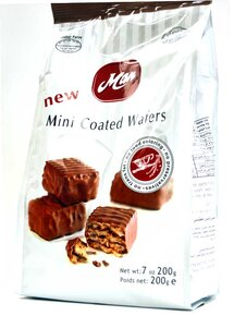 Chocolate Covered Mini Wafers - Man