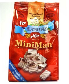 Chocolate Mini Wafer Cubes - Man