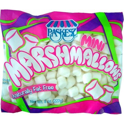 Mini White Marshmallow - Paskesz 8oz Bag