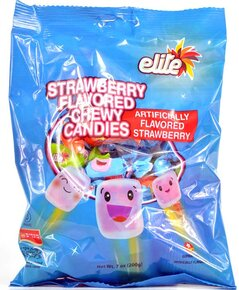 Elite - Strawberry Flavored Chewy Candies