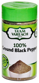 Ta'am Vareach - 100% Ground Black Pepper.