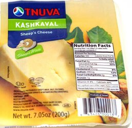 Tnuva Kashkaval Sheeps Cheese