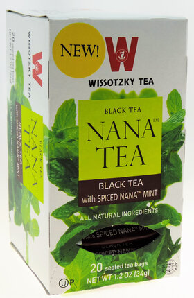 Wissotzky Black Teal with Spiced Nana Mint - 20 Bags