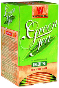 Wissotzky Green Tea with Citrus Fruits - Box of 20 Bags